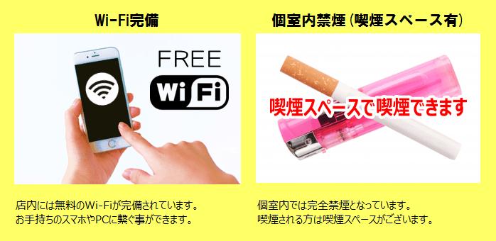 インターネットルームHITOTOKI(旧:まんが喫茶ひととき)はフリーWi-Fi・喫煙スペースOK