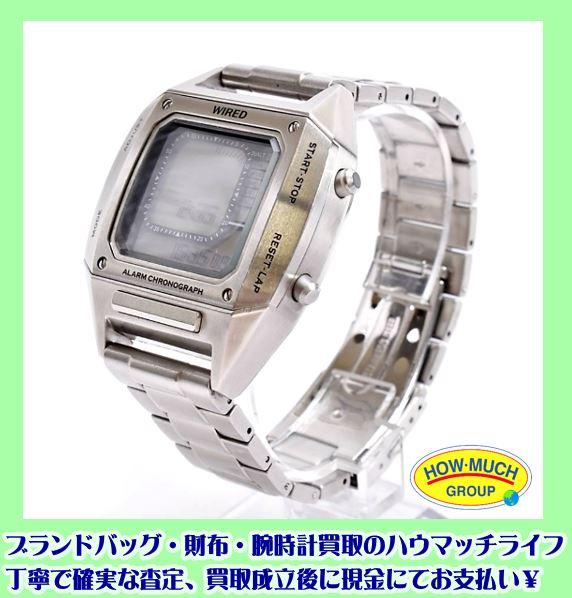 静岡市駿河区の買取リサイクルショップ・ハウマッチライフ静岡産業館西通り店にてセイコー(SEIKO) W865-KKB0 WIRED × BEAMS コラボ メンズ・デジタル腕時計をお買い取り!