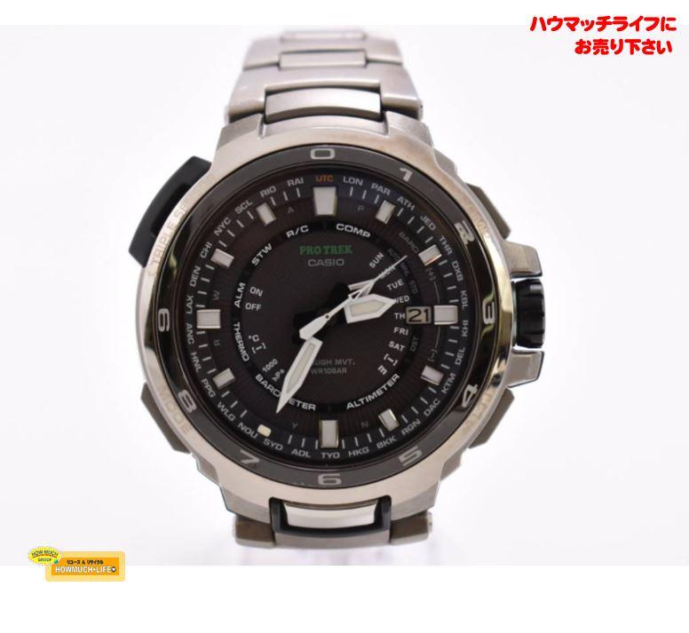 カシオ(CASIO)プロトレック(PRX-7000T Cal.5241)ソーラー電波 メンズ腕時計 お買い取り!ブランド腕時計買取なら静岡市駿河区のリサイクルショップ・ハウマッチライフ静岡産業館西通り店