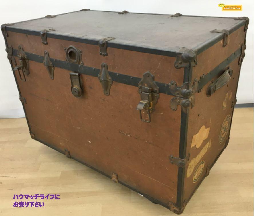 【現状品】multnomah baggageman proof マルトノマ郡荷物係 アメリカン アンティーク トランク ボックス をお買い取り!