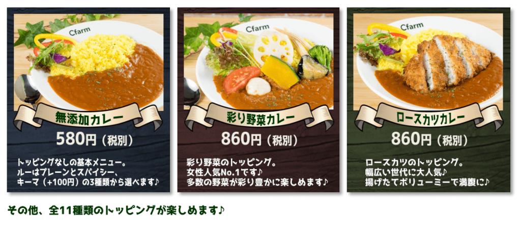 無添加カレー カフェ&バー Cfarm静岡産業館西通り店(シーファーム)で美味しいカレーを食べよう!!